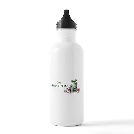 Got Schnauzers Dog Art Stainless Water Bottle 1.0L