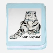 Snow Leopard baby blanket