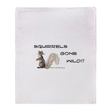 Wild Squirrel Throw Blanket