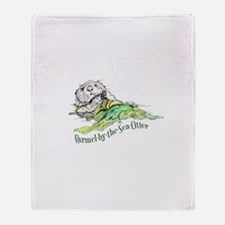 Carmel Sea Otter Throw Blanket