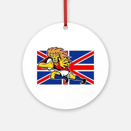British Lion rugby Ornament (Round)