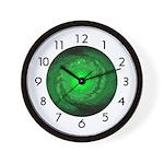 PLANETARY SERIES:  Green Galaxy Wall Clock