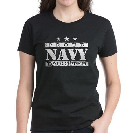 Proud Navy Daughter Women's Dark T-Shirt