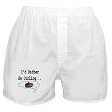 I'd Rather Be Curling.. Boxer Shorts