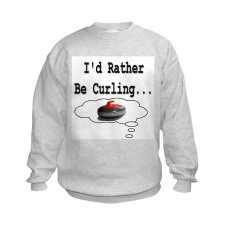 I'd Rather Be Curling.. Kids Sweatshirt