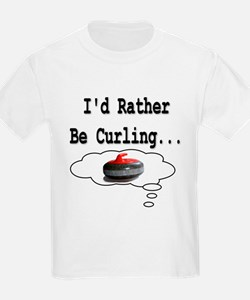 I'd Rather Be Curling.. Kids T-Shirt
