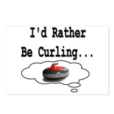 I'd Rather Be Curling.. Postcards (Package of 8)