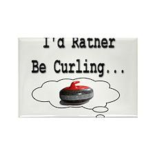 I'd Rather Be Curling.. Rectangle Magnet