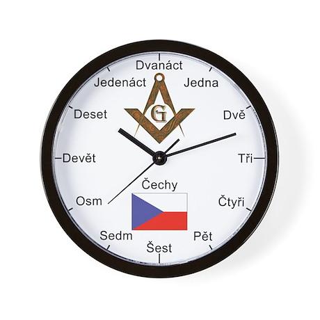 Czech Masons Masonic Wall Clock