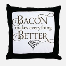 Bacon Makes Better Throw Pillow
