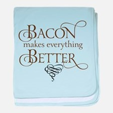 Bacon Makes Better baby blanket