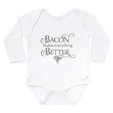 Bacon Makes Better Long Sleeve Infant Bodysuit