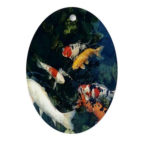 Koi Oval Ornament