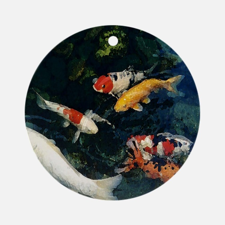 Fish pond ornaments 1000s of fish pond ornament designs for Koi fish ornament