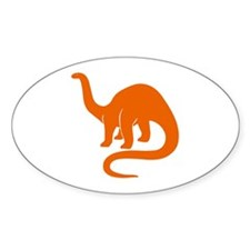 Brontosaurus Oval Decal