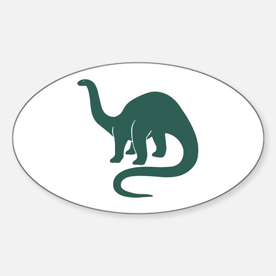 Brontosaurus Oval Decal