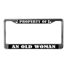 Funny Old Woman Birthday License Frame