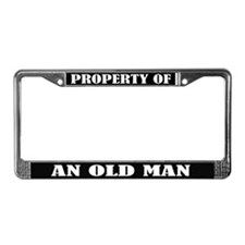Funny Old Man Birthday License Plate Frame