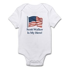 Scott Walker is my hero! Infant Bodysuit