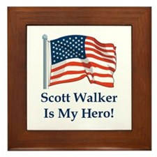 Scott Walker is my hero! Framed Tile