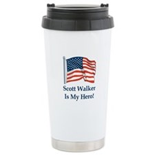 Scott Walker is my hero! Travel Mug