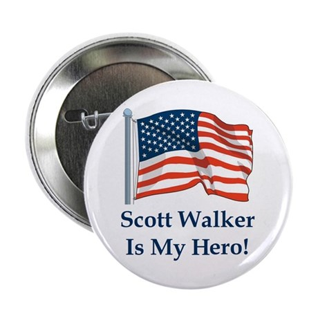 "Scott Walker is my hero! 2.25"" Button (100 pack)"