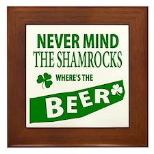 St Patrick Irish Wheres Beer Framed Tile