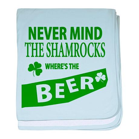 St Patrick Irish Wheres Beer baby blanket