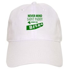Never mind st paddy beer Baseball Cap
