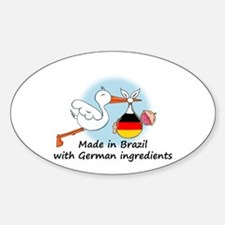 Stork Baby Germany Brazil Decal