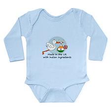 Stork Baby India UK Long Sleeve Infant Bodysuit