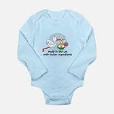 Stork Baby India UK Long Sleeve Infant Bodysuit