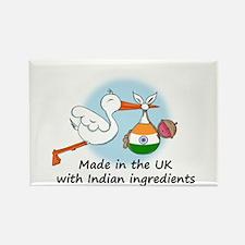 Stork Baby India UK Rectangle Magnet