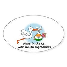 Stork Baby India UK Decal
