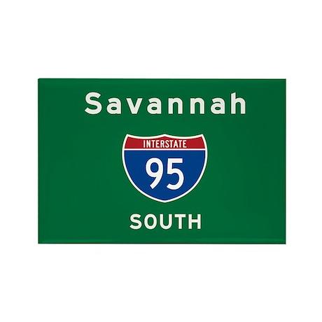 Savannah 95 Rectangle Magnet