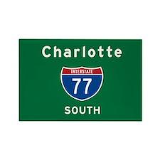 Charlotte 77 Rectangle Magnet