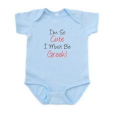 Must Be Greek Infant Bodysuit