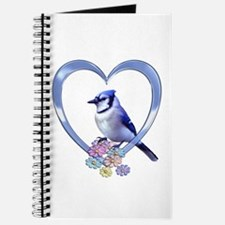 Blue Jay in Heart Journal