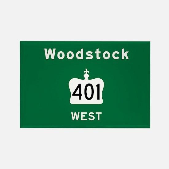 Woodstock 401 Rectangle Magnet
