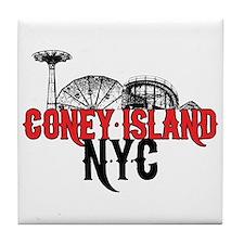 Coney Island NYC Tile Coaster