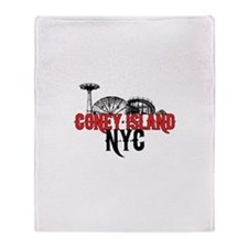 Coney Island NYC Throw Blanket