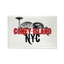 Coney Island NYC Rectangle Magnet