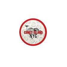 Coney Island NYC Mini Button