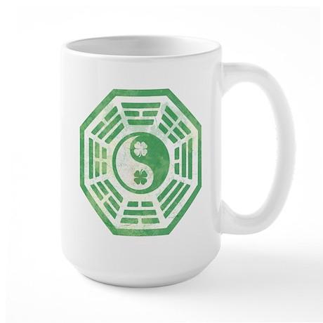 Yin Yang Dharma Irish Shamrock Large Mug