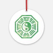 Yin Yang Dharma Irish Shamrock Ornament (Round)