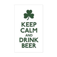 KEEP CALM Shamrock Decal