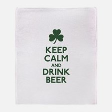 KEEP CALM Shamrock Throw Blanket