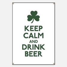 KEEP CALM Shamrock Banner