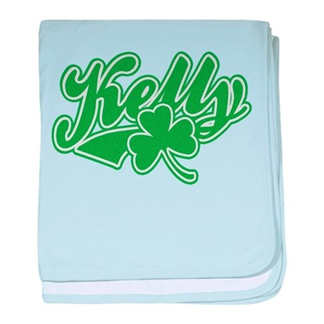 Kelly Irish Shamrock baby blanket