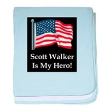 Scott Walker is my hero! baby blanket